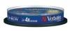 Диск Verbatim DVD+RW  4.7 Gb  4x,  Cake Box, 10шт., (43488)