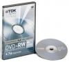 Диск TDK  DVD-RW  4.7 Gb  2х,  Jewel Сase, 1 шт., Video Box, Scratch Prof