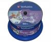 Диск Verbatim DVD+R  4.7 Gb  16x,  Caкe Box, 50шт., Printable  (43512)