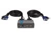 Переключатель сист. блоков D-Link KVM-221 на 2 компьютера USB, звук (кабели в комплекте)