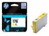 Картридж CB320HE (HP Photosmart C6383/C5383/D5463) желт, (о) № 178