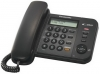 Телефон Panasonic KX-TS2356RUB (черный) {АОН, дисплей, тел. книга, регул. громк, порт для доп. обор}