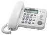 Телефон Panasonic KX-TS2356RUW (белый) {АОН, дисплей, тел. книга, регул. громк, порт для доп. обор}