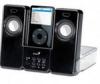Колонки Genius ITEMPO 150, для МР3-плееров и iPod, black, 4W, ПДУ, питание от батареек и сети,