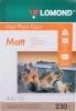 Бумага для стр. принтеров (230г/м2, 25л, А4 матовая,1-ст) 0102050 Lomond