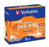 Диск Verbatim DVD-R  2.6 Gb 4x,  Jewel Case, 5шт., Dual Layer, (43631)