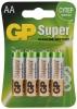 Батарейка AA GP 15A (LR6) BC4 Super Alkaline (4шт. в уп-ке) GP 15A-BC4