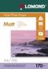 Бумага для стр. принтеров (170г/м2, 100л, А4 матовая 2-ст) 0102006 Lomond