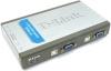 """Переключатель сист. блоков D-Link DKVM-4U {4сист.блока ->""""монитор-клав. (USB)-мышь (USB)""""}"""