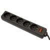 Сетевой фильтр 3.0м  (5 евророзеток) Defender ES черный (99485}
