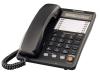 Телефон Panasonic KX-TS2365RUB (черный) {ЖКД,Спикерфон,ускорен. набор,Разъем гарнитуры,Автодозвон}