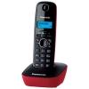 Радиотелефон Panasonic KX-TG1611RUR {АОН, Caller ID, 12 мелодий, тел.книга 50 номеров} черно-красный