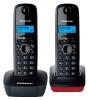 Радиотелефон Panasonic KX-TG1612RUH {АОН, Caller ID, 12 мелодий, тел.книга 50 номеров} доп. трубка