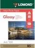 Бумага для стр. принтеров  (85г/м2, 100л, А4 глянц,1-ст)  0102145 Lomond