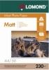 Бумага для стр. принтеров (230г/м2, 50л, А4 матовая, 1-ст) 0102016 Lomond