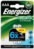 Аккумулятор AАA Energizer Extreme 800mAh HR03 (2шт. в уп-ке)