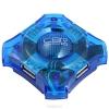 Разветвитель USB HUB CBR CH 127 (4 порта, голубой)