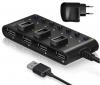 Разветвитель USB HUB 7 портов GR-487UAB Ginzzu USB 2.0 + adapter