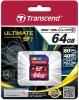 Карта памяти Secure Digital 64Gb Transend TS64GSDXC10, Class 10
