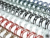 """Пружины для переплёта металические  А4, (6,4 мм(1/4""""),3:1,1/100) белые QP ( 45 л)"""