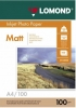 Бумага для стр. принтеров (100г/м2, 100л, А4 матовая 2-ст) 0102002 Lomond