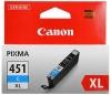 Картридж CLI-451C XL (Canon Pixma IP7240/Pixma MG6340/MG5440) син, (о)  6473B001
