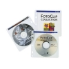 Конверт 100шт., CD/DVD диска (Hama, двухсторонний, полипропилен, белый/прозрачный) H-62611