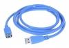 Удлинитель кабеля USB 3.0 [Аm - Аf] 1,8м [Gembird] (CCP-USB3-AMAF-6) позол. контакты