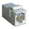 Адаптер проходной Hyperline  RJ-45(8P8C) формата Keystone Jack, категория 5e, 4 пары,  CA2-KJ-C5e-WH