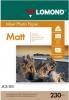 Бумага для стр. принтеров (230г/м2, 50л, А3 матовая 1-ст, фото) 0102156 Lomond