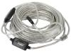 Удлинитель кабеля USB 2.0 [Аm - Аf] 15м активный(с усилителем) [Vcom]  [VUS7049-15M]