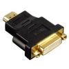 Переходник HDMI (F)  -> DVI (M)  черный, золотые разъемы [Hama H-34036]