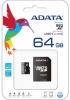 Карта памяти Micro SecureDigital 64Gb A-DATA AUSDX64GUICL10-RA1 Premier microSDXC Class 10 UHS-I U1