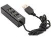 Разветвитель USB HUB 4 порта Ginzzu GR-474UB (USB 2.0 4 port) Шнур 110 см