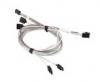 Кабель CBL-SAST-0556 SuperMicro HDmSAS SFF-8643 (mini SAS HD)-->4xSATA 0.75-0.9м