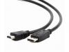 Кабель DisplayPort-HDMI Gembird/Cablexpert 3м, 20M/19M, черный, экран, пакет (CC-DP-HDMI-3M)