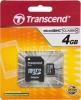 Карта памяти Micro Secure Digital 4Gb Transcend Class 4 (TS4GUSDC4)