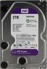 Жесткий диск SATA 2 Tb WD WD20PURZ Purple (Serial ATA III, 5400rpm, 64Mb buffer для в/наблюд)