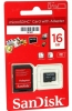 Карта памяти Micro SecureDigital 16Gb SanDisk Class 4 (SDSDQM-016G-B35A) SD адаптер