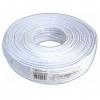 Телефонный кабель 100м Gembird (4-х жильный,  плоский) белый (TC1000S-100m)