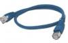 Шнур коммутационный с RJ45, 0.25м (синий)