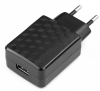 Зарядное устройство USB Gembird MP3A-PC-06 100/220V - 5V USB 1 порт, 2A, черный
