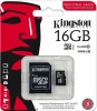 Карта памяти Micro SecureDigital 16Gb Kingston Class 10 (SDCS/16GB)  (SD адаптер) 80MB/s