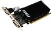 Видеокарта 1024Mb PCI-E GeForce GT710 MSI (DDR3, 64bit, DVI, VGA, HDMI) (1GD3H LP)