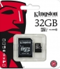 Карта памяти Micro SecureDigital 32Gb Kingston Class 10 (SDCS/32GB)  (SD адаптер)
