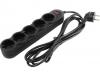 Сетевой фильтр 1.8м  (5 евророзеток) SVEN SF-05L (черный)