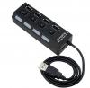 Разветвитель USB HUB Bion USB2.0 (4 port) (BNUHB-U2P4-03)