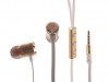 Наушники-вкладыши с микрофоном Continent HCW-7301 (LX N7) золотой 20-20000, 110 ± 3Дб, 16Ом
