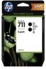 Комплект картриджей P2V31A (HPDsJ T120/T520) черн, (2*80мл) (о) №711