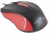 Мышь оптич. (USB) Oklick 225M черный/красный (1200dpi) USB (2but) 288237